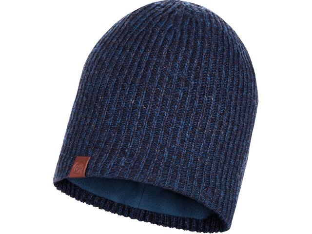 Buff Lyne Bonnet tricot intérieur polaire Femme, night blue